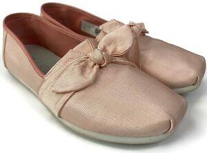 TOMS Grosgrain Women's Bow Classics Shoes Pink Size 7 Blush