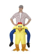 Mens Chicken Ride On Me Mascot Fancy Dress Carry Costume Piggy Back Stag Outfit