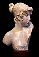 Sappho Lesbos island French Sculpture Bust of Ancient Greek Poetess from 36 cm.