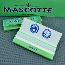 MASCOTTE glue 70mm 10 Booklets(X 50 Leaves) Handroll Smoking Rolling Papers