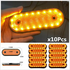 10X 24V Amber 20LED Side Marker Indicator Light Lamp Caravan Truck Trailer Lorry