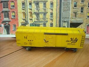 AMERICAN FLYER  No. 937  M.K.T. YELLOW THE KATY BOX  CAR~S GAUGE