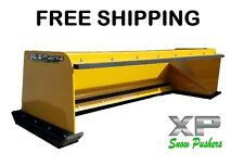 6' Xp24 pullback snow pusher Free Shipping skidsteer Bobcat Case Caterpillar