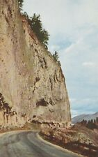 "*Yellowstone National Park Postcard-""Overhanging Cliff"" -Near Tower Fall/"