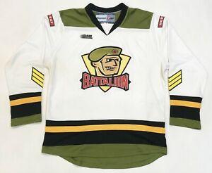 Reebok CHL North Bay Battalion Hockey Jersey White Adult M Sewn Canada