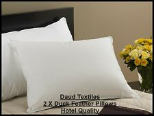 2 x Luxurious Duck Feather & Down Pillow, Comfortable Extra Filling Best Quality