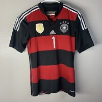 Germany Deutschland Football Shirt Soccer Adidas Jersey World Champions Red sz L