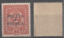 Poland 43 ** MNH overprint 1919 Poczta Polska Cracow sig. Wiatrowski position 39