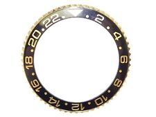Yellow Gold Ceramic Bezel For Rolex GMT Master 2 116713 40mm