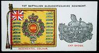 The Gloucestershire Regiment  1st Battalion Colours   Original Vintage Card