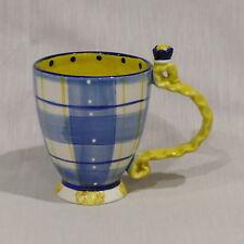 Blue Sky Ceramics Mug / Cup Rapunzel Golden Hair Handle ~ Heather Goldminc