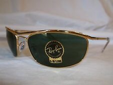RAY BAN OLYMPIAN SUNGLASSES RB3119 001 ARISTA GOLD GREEN 59-19-120 NEW AUTHENTIC