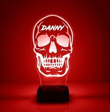 Skull LED Light Personalized FREE w/ Your Name - Remote - Night Light