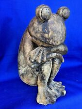 New listing Frog Prince Garden Statue Figure Stone Ware Unique One of a Kind Decor Pond 12/9