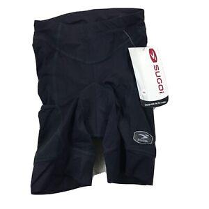 NWT Sugoi Womens Size XS Black Cycling Shorts Piston 200Tri Pkt Short. AB