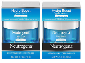 Neutrogena Hydro Boost Gel Cream, Dry Skin, Fragrance Free, 1.7 oz (Pack of 2)