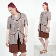 Short Sleeve Check Collared Jumpsuits & Playsuits for Women