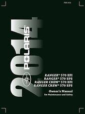 Polaris Owners Manual Book 2014 RANGER 570 EFI