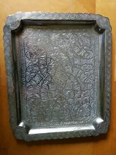 Antique  Solid silver Persian Tray