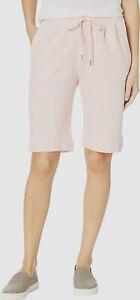 $279 Three Dots Women's Pink Soft Cotton Fleece SweatPant Shorts Size XL