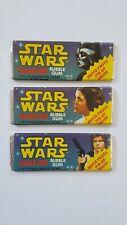 1978 Topps Star Wars Vintage Bubble Gum - Sealed Excellent (Vader, Leia & Han)