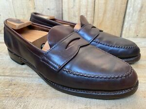 Alden X Brooks Brothers 963 Color 8 Shell Cordovan Penny Loafer Sz 9 D