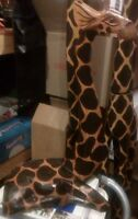 HAND CARVED AFRICAN BABY GIRAFFE WOOD SCULPTURE STATUE Original Price $290