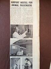 J1f Ephemera 1960s Article Rspca Animal Hostel London Airport