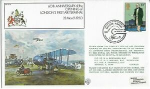 GB 1980 Whirlwind XP 328 Flown 60th Anniv Opening of London's 1st Air Terminal