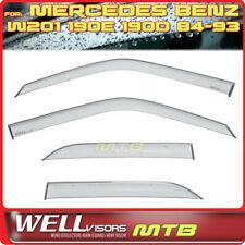 WellVISORS Window Visors W201 1984-1993 Mercedes Benz 190E Rain Sun Deflectors