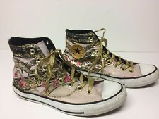 RARE Converse Women's Chuck Taylor All Star High Top Sneakers Size 10 Pink Gold