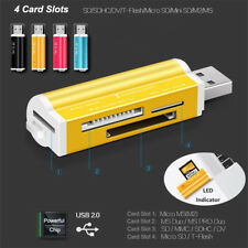 USB All in 1 Multi Memory Stick Card Reader Adaptor for Micro SD MMC SDHC TF M2
