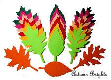 18 x Die Cut Felt Leaves Large Autumn Brights Orange Yellow  Green Embellishment
