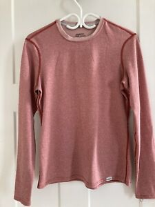 Patagonia Womans sz Med Capilene 3 base layer shirt top long sleeve Red GUC