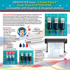 "3 Fisher 2"" - super giant plotter pens (compatible Graphtec & Anagraph plotters)"