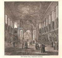 Painted Hall.Greenwich Hospital.1879.London.Art.Architecture.Historical.Art