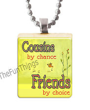 Cousins Friends Scrabble Tile Necklace Pendant Custom Made Jewely Family Love 02