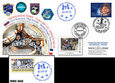 FDC Kazakhstan-France Proxima Soyuz MS-03 Back on Earth of Pesquet 2017 - TYPE3