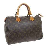 LOUIS VUITTON SPEEDY 30 HAND BAG PURSE MONOGRAM CANVAS VI0990 M41526 36500