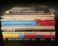 LOT of 12 books and public Geology Colorado Yellowstone Crater Lake Hiking