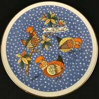 VTG Christmas Plate Distinguish Gift Creation 12 Twelve Days 3 French Hens USA