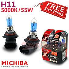 MICHIBA H11 12V 55W 5000K Xenon Halogen Super WHITE HeadLight Bulbs for Low Beam