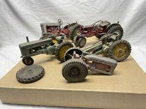 Vintage Metal Farm Tractor Trailer Implement Toys Parts For Repair - HUGE LOT!