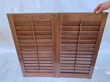 "Interior Window Shutters Wood Louver Plantation 38"" W x 35"" H"