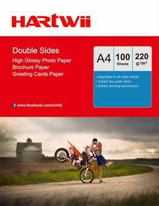 100Sheets A4 Double Sided High Gloss Photo Paper 220Gsm Inkjet Paper Printing