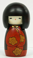 Usaburo Kokeshi Japanese Wooden Doll 18 Kojitsu Red (Nice Day)