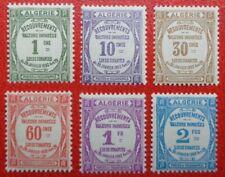 Algérie neufs, timbres-taxe n°15 à 20, 1926, N**