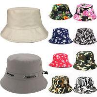 Men Women Floral Boonie Hunting Hiking Fishing Outdoor Cap Summer Bucket Sun Hat