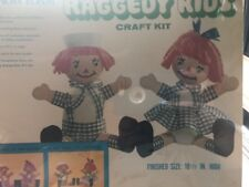 Vintage raggedy kids craft kit snow foam