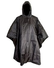US Amy Style Black Waterproof Hooded Ripstop Combat Military Army Poncho